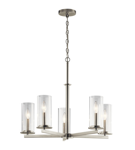 Kichler 43999ni crosby 5 light 26 inch brushed nickel chandelier kichler 43999ni crosby 5 light 26 inch brushed nickel chandelier ceiling light medium photo aloadofball Choice Image