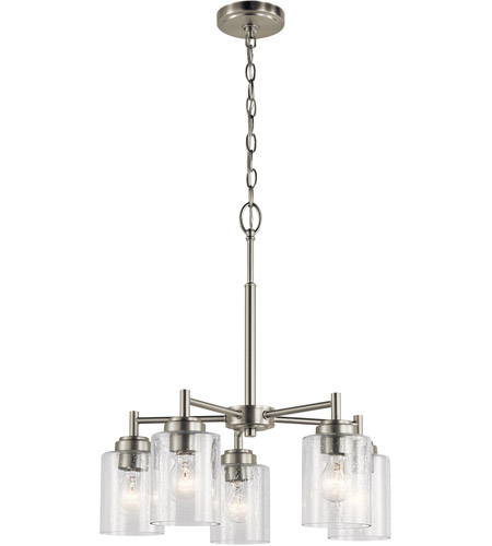 Kichler 44030NI Winslow 5 Light 20 inch Brushed Nickel Chandelier Ceiling Light, Small photo