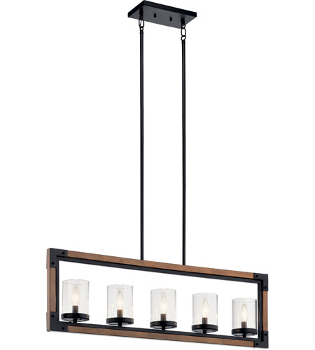 Marimount 5 Light 4 Inch Auburn Stained Chandelier Ceiling