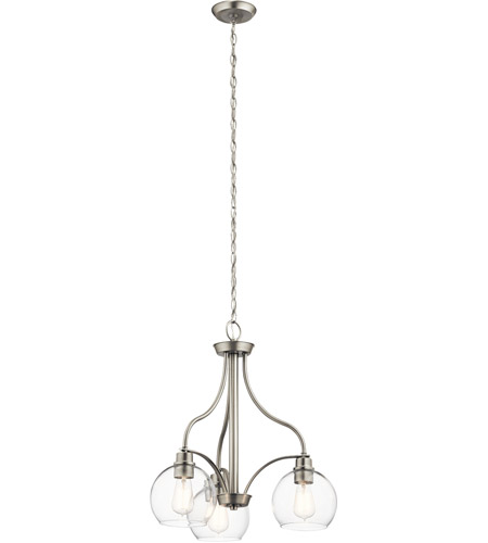Kichler 44063ni Harmony 3 Light 22 Inch Brushed Nickel Chandelier Ceiling Small
