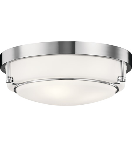 Belmont 3 Light 16 Inch Chrome Flush Mount Ceiling