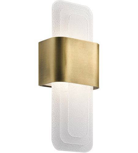 Kichler 44162nbrled serene led 7 inch natural brass wall sconce wall kichler 44162nbrled serene led 7 inch natural brass wall sconce wall light aloadofball Choice Image