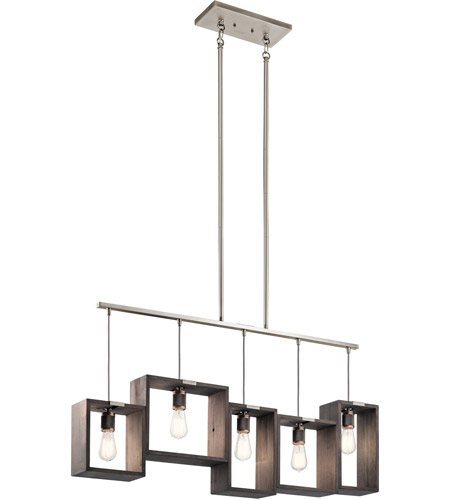 Kichler 44216clp industrial frames 5 light 45 inch classic pewter kichler 44216clp industrial frames 5 light 45 inch classic pewter chandelier ceiling light linear photo aloadofball Image collections