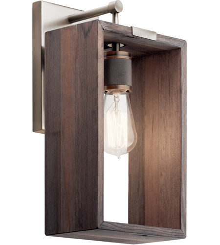 Frames 1 Light 8 Inch Clic Pewter Wall Sconce