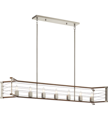 Kichler 44252NI Lente 7 Light 13 inch Brushed Nickel Chandelier Linear (Single) Ceiling Light photo thumbnail