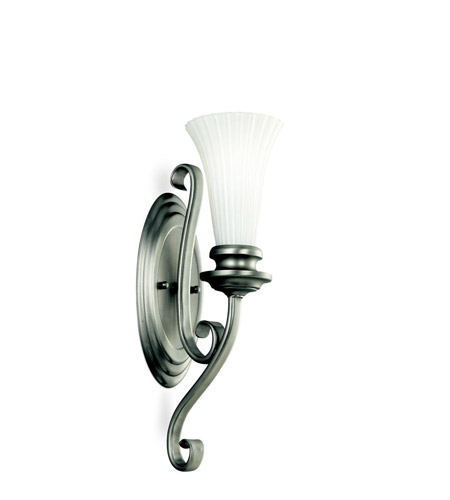Kichler Lighting Abbeyville 1 Light Wall Sconce in Brushed Pewter 45050BPT
