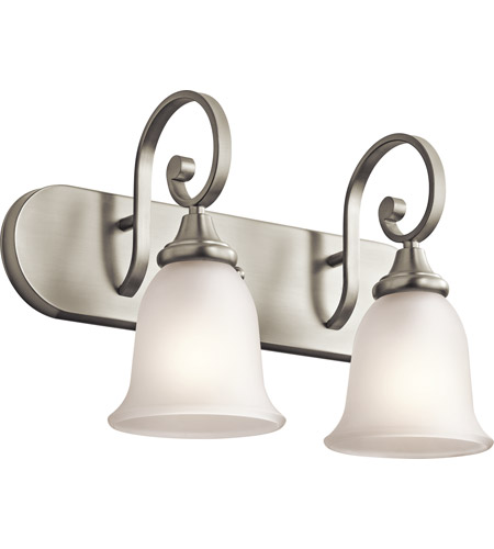 Kichler Lighting Monroe 2 Light Bath Wall in Brushed Nickel 45054NI