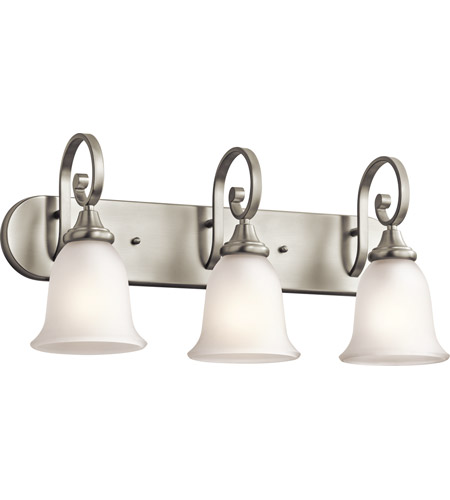 Kichler 45055NI Monroe 3 Light 24 inch Brushed Nickel Bath Wall Wall Light photo