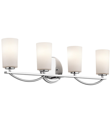 Kichler Rousseau 4 Light Wall Mt Bath 4 Arm in Chrome 45062CH photo