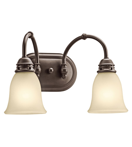 Kichler 45065OZ Durham 2 Light 16 inch Olde Bronze Bath Vanity Wall Light photo