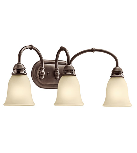 Kichler Lighting Durham 3 Light Bath Vanity in Olde Bronze 45066OZ photo