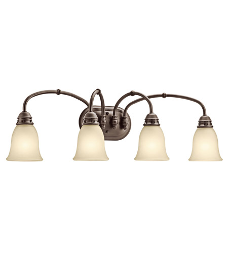 Kichler Lighting Durham 4 Light Bath Vanity in Olde Bronze 45067OZ photo