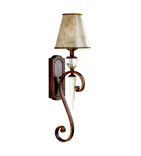 Kichler Lighting Hanna 1 Light Wall Sconce in Heritage Bronze 45068HB