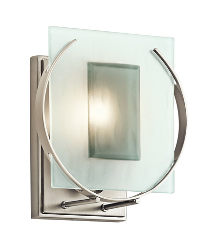 Kichler Lighting Manitoba 1 Light Wall Sconce in Brushed Nickel 45072NI photo