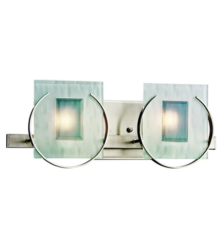 Kichler Lighting Manitoba 2 Light Bath Vanity in Brushed Nickel 45073NI photo