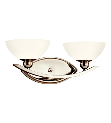 Kichler Lighting Palla 2 Light Bath Vanity in Polished Nickel 45091PN
