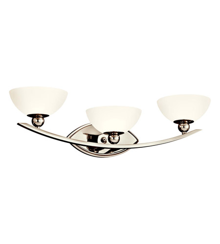 Kichler Lighting Palla 3 Light Bath Vanity in Polished Nickel 45092PN photo