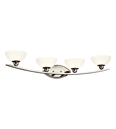 Kichler Lighting Palla 4 Light Bath Vanity in Polished Nickel 45093PN photo