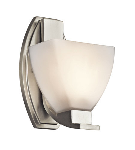 Kichler Lighting Claro 1 Light Wall Sconce in Brushed Nickel 45113NI photo