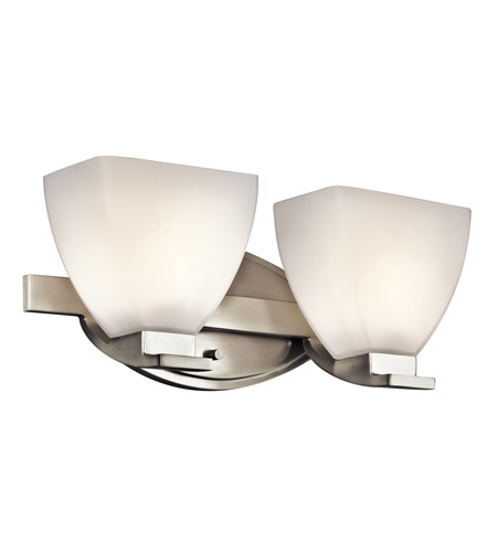 Kichler Lighting Claro 2 Light Bath Vanity in Brushed Nickel 45114NI