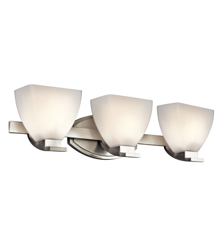 Kichler Lighting Claro 3 Light Bath Vanity in Brushed Nickel 45115NI photo