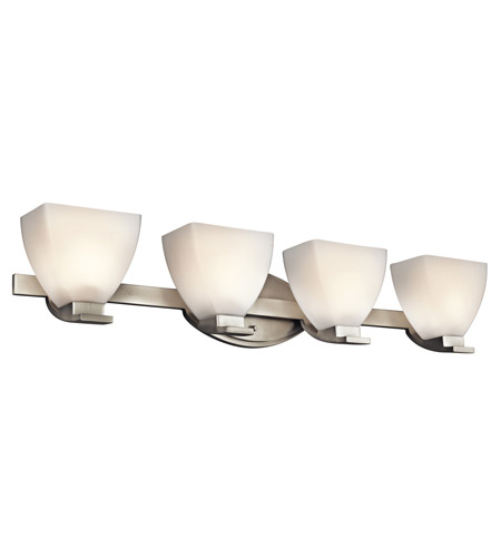 Kichler Lighting Claro 4 Light Bath Vanity in Brushed Nickel 45116NI photo