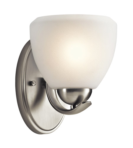Kichler Lighting Calleigh 1 Light Wall Sconce in Brushed Nickel 45117NI photo