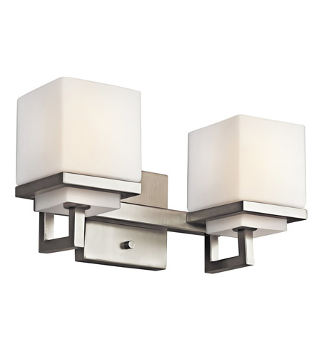 Kichler Lighting Metro Park 2 Light Bath Vanity in Brushed Nickel 45138NI photo