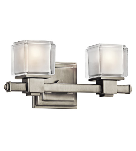 Kichler Lighting Rocklin 2 Light Bath Vanity in Brushed Nickel 45142NI