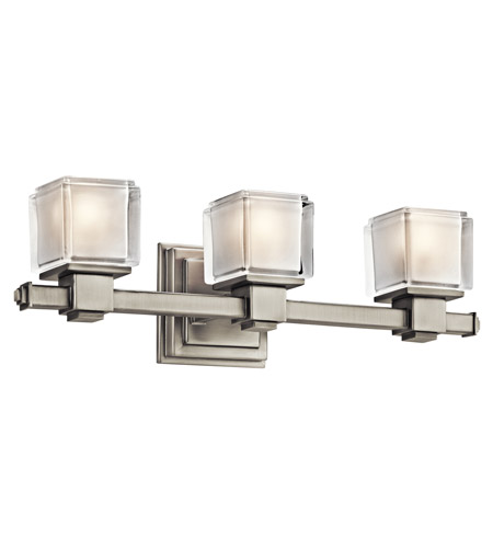 Kichler Lighting Rocklin 3 Light Bath Vanity in Brushed Nickel 45143NI