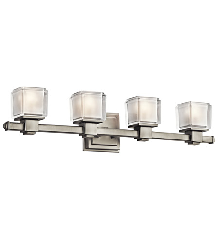 Kichler Lighting Rocklin 4 Light Bath Vanity in Brushed Nickel 45144NI photo
