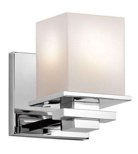 kichler 45149ch tully 1 light 5 inch chrome wall sconce wall light