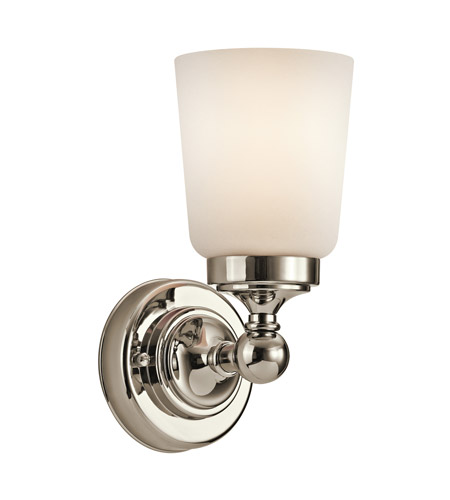 Kichler Lighting Perth 1 Light Wall Sconce in Polished Nickel 45165PN