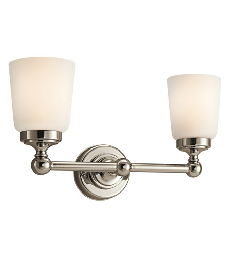 Kichler Lighting Perth 2 Light Bath Vanity in Polished Nickel 45166PN