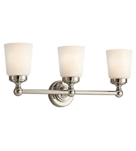 Kichler Lighting Perth 3 Light Bath Vanity in Polished Nickel 45167PN