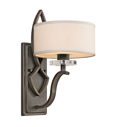 Kichler Lighting Leighton 1 Light Wall Sconce in Olde Bronze 45178OZ