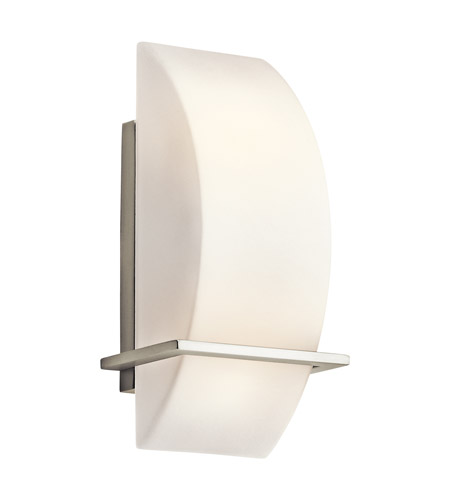 Kichler Lighting Crescent View 2 Light Wall Sconce in Brushed Nickel 45217NI
