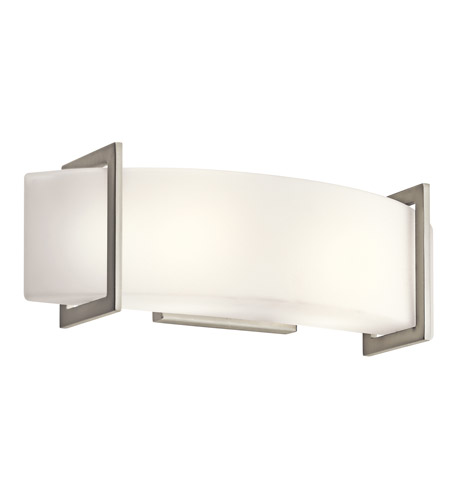 Kichler 45218NI Crescent View 2 Light 18 inch Brushed Nickel Bath ...