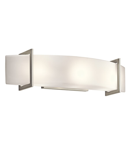 Kichler 45220NI Crescent View 3 Light 24 inch Brushed Nickel Bath ...