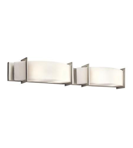 Kichler Lighting Crescent View Light Bath Vanity In Brushed Nickel - Kichler 4 light bathroom fixture