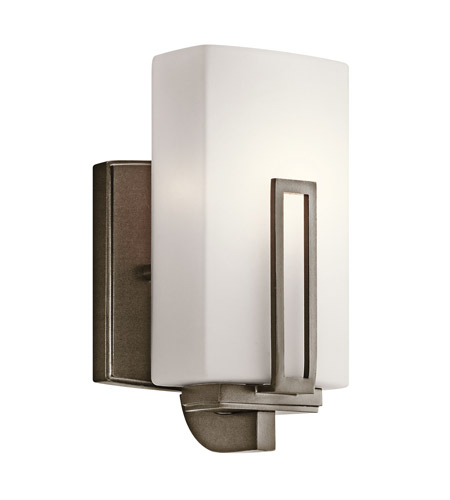 Kichler Lighting Leeds 1 Light Wall Sconce in Shadow Bronze 45224SWZ