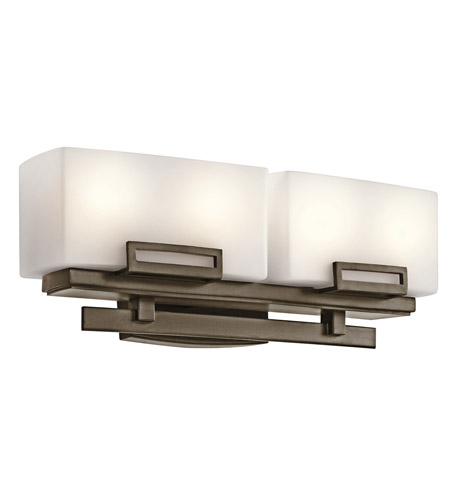Kichler Lighting Leeds 4 Light Bath Vanity in Shadow Bronze 45225SWZ photo