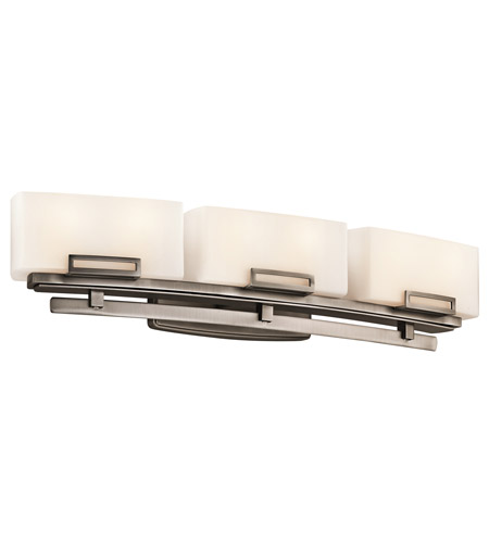 Kichler Lighting Leeds 6 Light Bath Vanity in Antique Pewter 45226AP