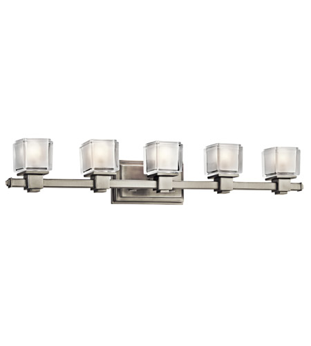 Kichler Lighting Rocklin 5 Light Bath Vanity in Brushed Nickel 45245NI photo