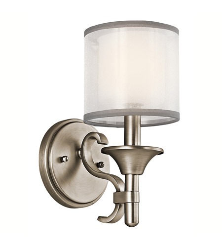Kichler Lighting Lacey 1 Light Wall Sconce in Antique Pewter 45281AP