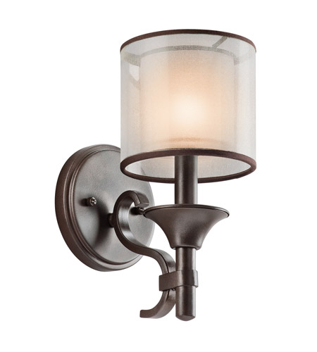 Kichler 45281MIZ Lacey 1 Light 5 inch Mission Bronze Wall Sconce Wall Light photo
