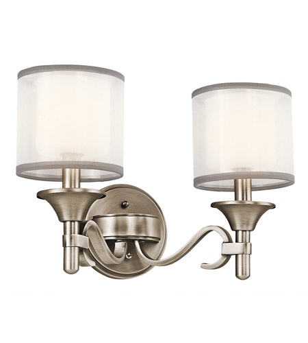 Kichler 45282AP Lacey 2 Light 14 inch Antique Pewter Vanity Light Wall Light photo