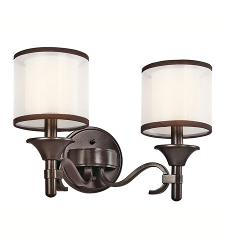 Kichler Lighting Lacey 2 Light Bath Vanity in Mission Bronze 45282MIZ