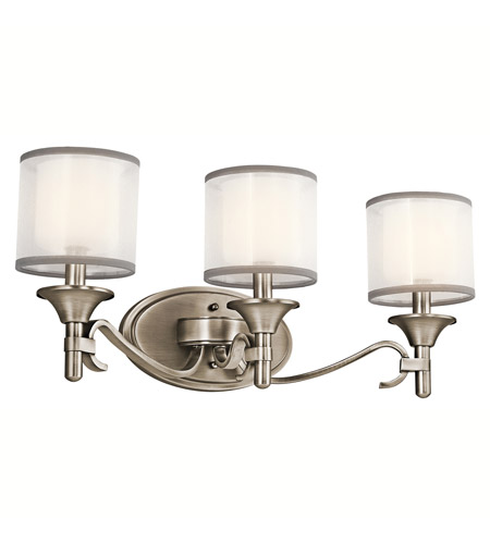 Kichler 45283AP Lacey 3 Light 22 inch Antique Pewter Bath Vanity Wall Light photo