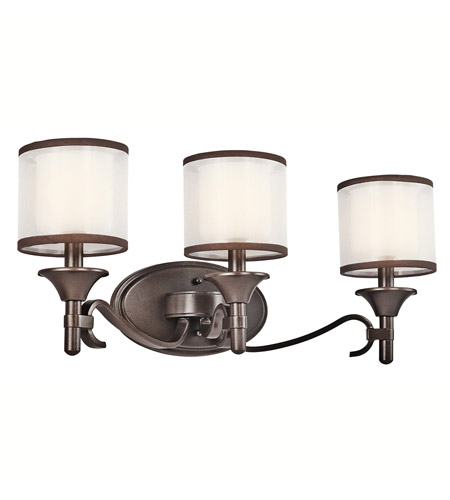 Kichler Lighting Lacey 3 Light Bath Vanity in Mission Bronze 45283MIZ